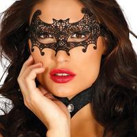 Halloween - Zwart kanten Halloween oogmasker vleermuis voor dames