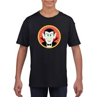 Shoppartners Halloween - Halloween vampier/Dracula t-shirt zwart kinderen (134-140) Zwart