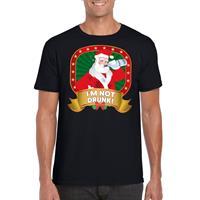 Shoppartners Foute Kerst t-shirt zwart Im not drunk voor heren