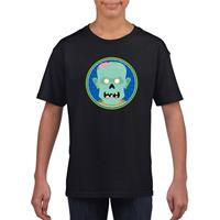 Shoppartners Halloween - Halloween zombie t-shirt zwart kinderen (134-140) Zwart