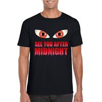 Shoppartners Halloween - See you after midnight Halloween vampier t-shirt zwart heren Zwart