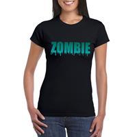 Shoppartners Halloween - Halloween zombie tekst t-shirt zwart dames Zwart