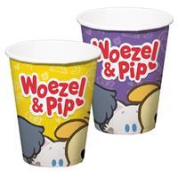 Woezel & Pip Woezel en Pip met mol bekers 8 stuks Multi