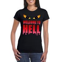Shoppartners Halloween - Welcome to hell Halloween Duivel t-shirt zwart dames Zwart