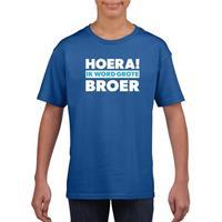Shoppartners Blauw Hoera ik word grote broer t-shirt voor jongens