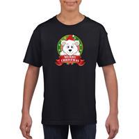 Shoppartners Zwart Kerst t-shirt voor kinderen