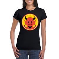 Shoppartners Halloween - Halloween rode duivel t-shirt zwart dames Zwart