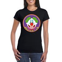 Shoppartners Halloween - Halloween horror clown t-shirt zwart dames Zwart