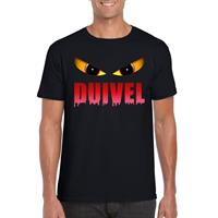 Shoppartners Halloween - Halloween duivel ogen t-shirt zwart heren Zwart