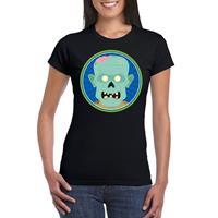 Shoppartners Halloween - Halloween zombie t-shirt zwart dames Zwart