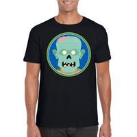 Shoppartners Halloween - Halloween zombie t-shirt zwart heren Zwart