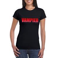 Shoppartners Halloween - Halloween vampier tekst t-shirt zwart dames Zwart
