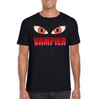 Shoppartners Halloween - Halloween vampier ogen t-shirt zwart heren Zwart
