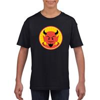 Shoppartners Halloween - Halloween rode duivel t-shirt zwart kinderen Zwart