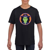 Shoppartners Halloween - Halloween heks t-shirt zwart kinderen (134-140) Zwart