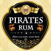 Shoppartners Flessen etiket pirates rum Multi