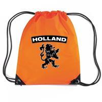 Shoppartners Oranje Holland zwarte leeuw rugzak Oranje