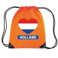 Shoppartners Oranje Holland hart vlag rugzak Oranje