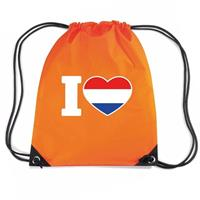 Shoppartners Oranje I love Holland rugzak Oranje