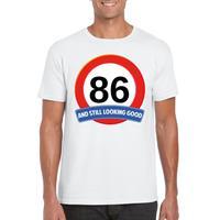 Verkeersbord jaar t-shirt wit heren Wit