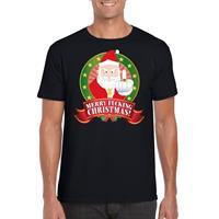 Shoppartners Foute Kerst t-shirt zwart Merry Fucking Christmas voor heren