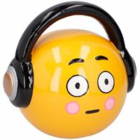 Merkloos Emoticon headphone spaarpot