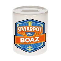 Kinder spaarpot voor Boaz - keramiek - naam spaarpotten