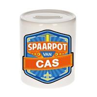 Kinder spaarpot voor Cas - keramiek - naam spaarpotten