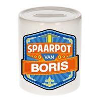 Kinder spaarpot voor Boris - keramiek - naam spaarpotten