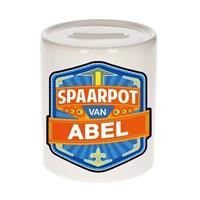 Kinder spaarpot voor Abel - keramiek - naam spaarpotten