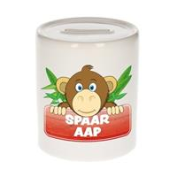 Kinder spaarpot met spaar aap opdruk - keramiek - apen spaarpotten