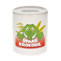 Kinder spaarpot met spaar krokodil opdruk - keramiek - krokodillen spaarpotten