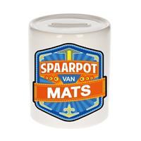 Merkloos Kinder spaarpot voor Mats - keramiek - naam spaarpotten