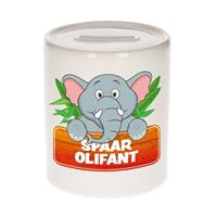 Kinder spaarpot met spaar olifant opdruk - keramiek - olifanten spaarpotten