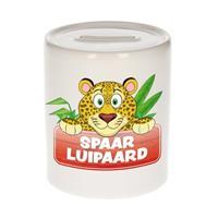 Kinder spaarpot met spaar luipaard opdruk - keramiek - luipaarden spaarpotten
