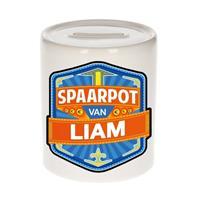 Merkloos Kinder spaarpot voor Liam - keramiek - naam spaarpotten