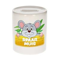 Kinder spaarpot met spaar muis opdruk - keramiek - muis spaarpotten