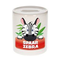 Kinder spaarpot met spaar zebra opdruk - keramiek - zebra spaarpotten