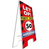 Pas op bord party zone Abraham