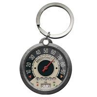 Sleutelhanger snelheidsmeter rond 4 cm Grijs