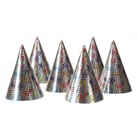 12x Feest papieren punthoedjes Multi