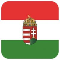 Shoppartners Bierviltjes Hongaarse vlag vierkant 15 st Multi