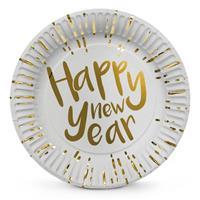 Boland Bordjes Happy New Year goud wit