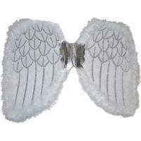 Engelen verkleed vleugels wit 36 cm Wit