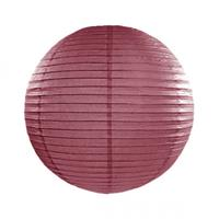 Luxe bol lampion bordeaux rood 35 cm Rood