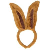 Diadeem konijn/haas donkerbruin voor volwassenen