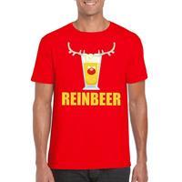 Shoppartners Foute Kerst t-shirt Reinbeer rood voor heren