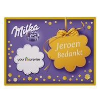 YourSurprise Say it with Milka giftbox - Bedankt - 110 gram