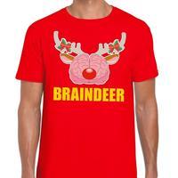 Shoppartners Foute Kerst t-shirt braindeer rood voor heren