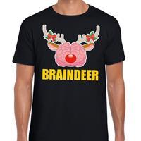 Shoppartners Foute Kerst t-shirt braindeer zwart voor heren